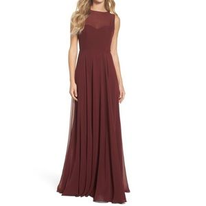 Jenny Yoo Bridesmaid Elizabeth chiffon dress